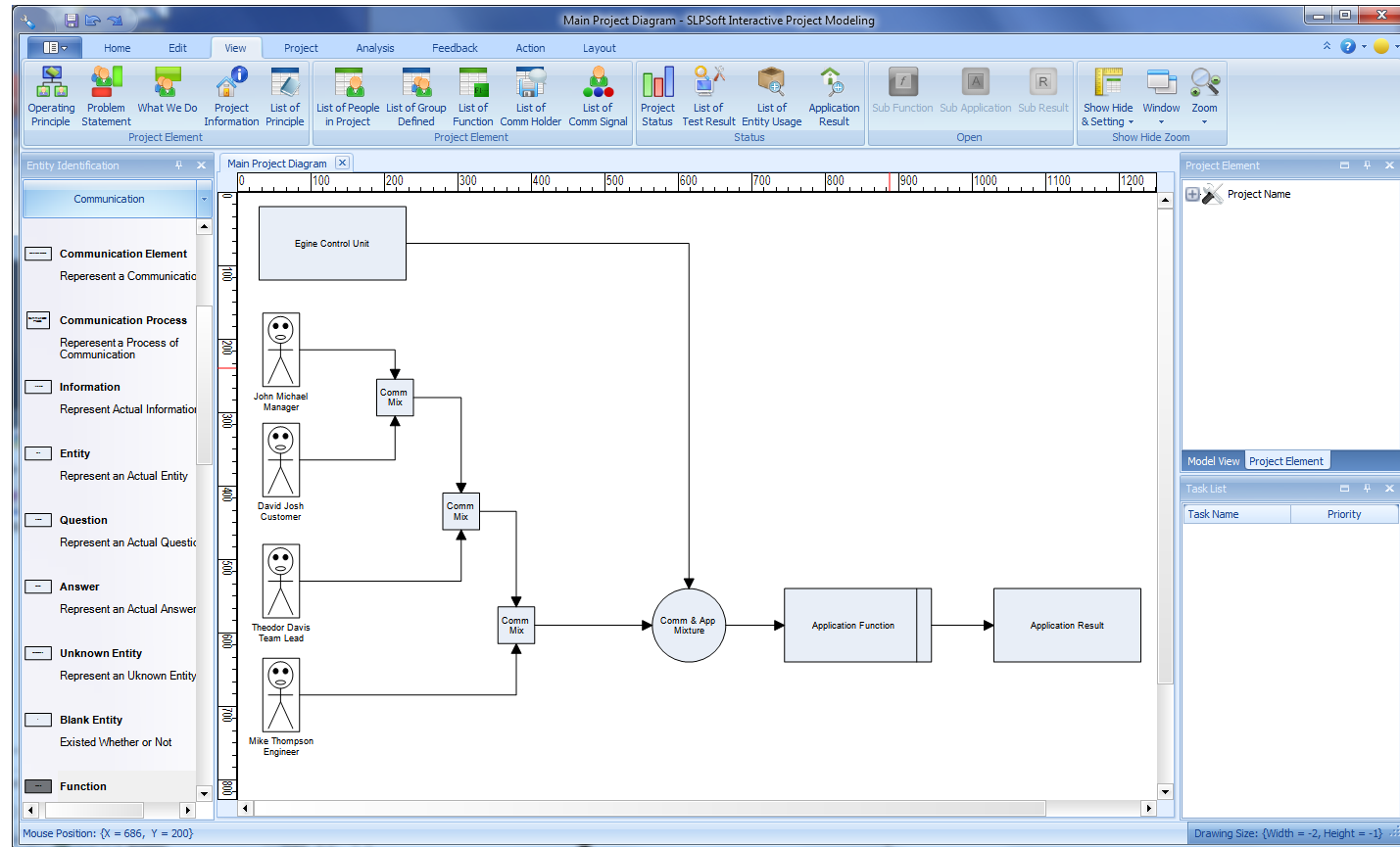 Click to view SLPSoft Interactive Project Modeling screenshots